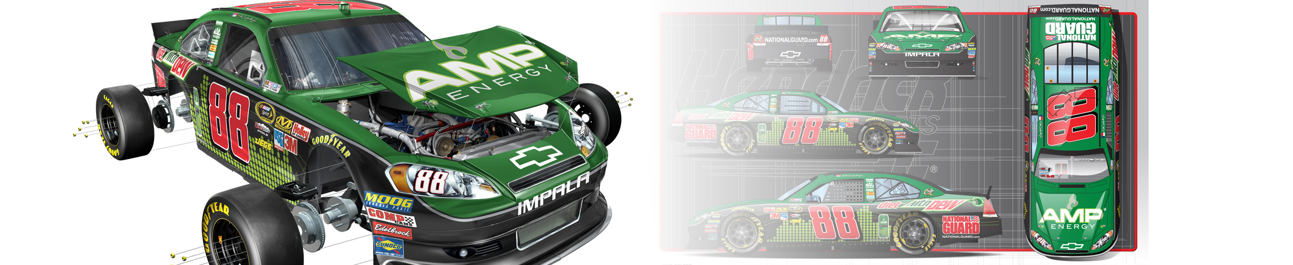 Mountain Dew AMP Car
